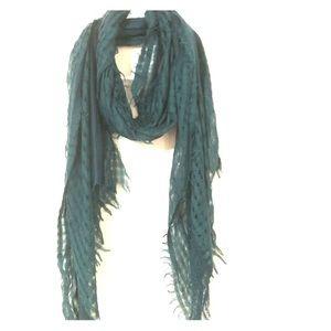 Accessories - Dark blue-green scarf